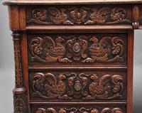 19th Century Carved Oak Partners Desk (15 of 17)