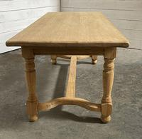 Nice Bleached Oak Farmhouse Dining Table (6 of 19)