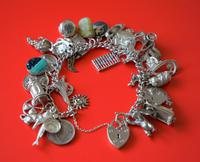 A Vintage 1963 Heavy Silver Charm Bracelet With 38 Silver Charms - Ideal Birthday Present  / Boxed (2 of 10)