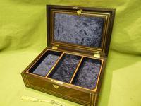 Inlaid Unisex Rosewood Jewellery Box + Tray. c1835 (7 of 12)