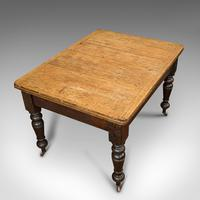 Antique Kitchen Table, English, Extending, Scrub Top, Dining, Victorian c.1870 (9 of 12)