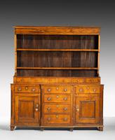 Handsome George III Period Oak Dresser & Rack (2 of 9)