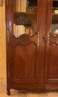 Louis XV Wardrobe with Glassed Door - 18th Century in Wild Cherrywood (2 of 11)