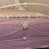 Cream Victorian Cast Iron Bedstead with Hoop Over Design (10 of 10)