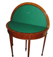 Fine Quality Edwardian Inlaid Satinwood Card Table c.1900 (4 of 4)