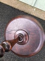 Antique Oak Tripod Wine Table (6 of 6)