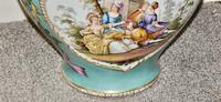 Stunning Very Large Late 19th Century Helena Wolfsohn Dresden Vase + Cover (6 of 11)