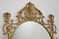 Pair of Antique French Style Brass Mirrors (4 of 12)