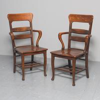 Rare Antique Set of 34 American Oak Chairs (5 of 15)
