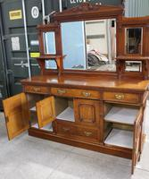 1910's Good Large Carved Oak Sideboard with Mirror Back (5 of 7)