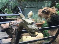 Wrought Iron & Brass Log Cart (5 of 8)
