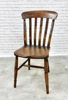 Matched Set of 6 Windsor Kitchen Chairs c.1890 (2 of 7)
