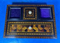 Victorian Rosewood & Tunbridge Ware Inkstand by Thomas Barton (16 of 24)