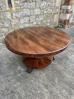 English Regency Rosewood Round Centre Table (4 of 7)