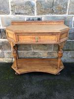 Antique Light Oak Hall Side Table