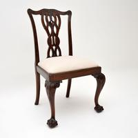 Set of 8 Antique Mahogany Chippendale Style Dining Chairs (11 of 12)
