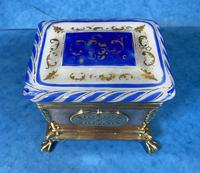 Arts & Crafts Glass and Brass Single Tea Caddy. (12 of 18)