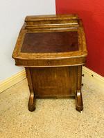 Walnut and Ambonya Davenport Desk (2 of 15)