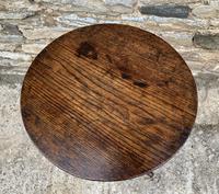 Antique Georgian Oak Candle Table (9 of 12)