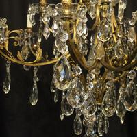 French Gilded Bronze 16 Light Antique Chandelier (5 of 10)