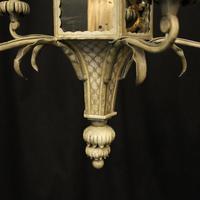 English 5 Light Polychrome Pagoda Chandelier (6 of 10)