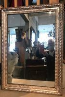 19th Century French Restauration Period Silver Ripple Edge Mirror (2 of 4)