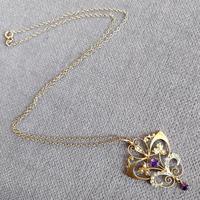 Victorian Art Nouveau 9ct Gold Pendant (7 of 9)