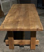 Chunky Bleached Oak Farmhouse Dining Table (9 of 12)