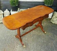 Antique Design Walnut Serpentine Front Desk (4 of 7)