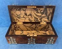 Victorian Brassbound Burr Walnut Glove Box (8 of 9)