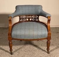 Scottish Armchair In Mahogany Called Tub Chair 19th Century (6 of 7)