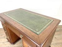 Small Antique Mahogany KneeHole Desk (8 of 9)