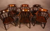 Harlequin Set of 6 Victorian Captains Chairs (2 of 10)