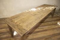 Large Scale 19th Century French Sycamore & Oak Farmhouse Table & Benches (6 of 19)