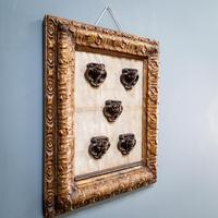 5 Carved Heads in Gilt Frame (2 of 10)