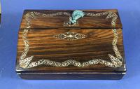 William IV Rosewood Lap Desk, Inlaid with Mother of Pearl (5 of 14)