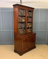 Good Edwardian Inlaid Mahogany Bookcase (12 of 16)