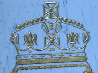 Interesting Architectural Large Heavy Marble & Gilt Inscribed Royal Insurance Building Sign (11 of 13)
