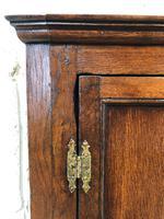 Georgian Oak Wall Hanging Corner Cupboard (7 of 9)