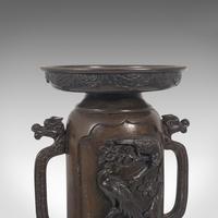 Antique Decorative Vase, Japanese, Bronze, Meiji Period c.1900 (10 of 12)