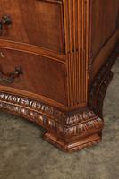 Large Mahogany Serpentine Shaped Partners Desk (16 of 20)