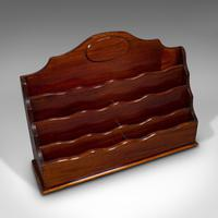 Antique Desk Tidy, English, Mahogany, Letter, Stationery Rack, Edwardian c.1910 (9 of 10)