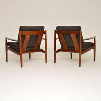 1960's Pair of Danish Rosewood Armchairs by Grete Jalk (12 of 12)