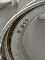 Antique Silver & Glass Tankard 1937 London Goldsmiths & Silversmiths Sterling (5 of 12)