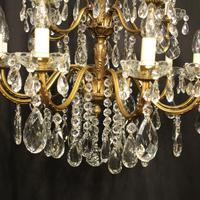Italian 15 Light Gilded Bronze Antique Chandelier (9 of 10)