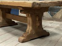 Superb Very Rustic French Oak Bleached Oak Farmhouse Dining Table (8 of 32)