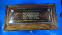 Regency Rosewood Brass Foliate Inlaid Tea Caddy (9 of 15)