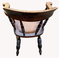 19th Century Smokers Bow Armchair (2 of 4)