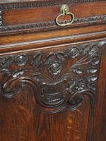 Antique Northern French Carved Oak Side Cabinet (9 of 15)