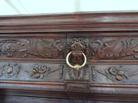 Country Oak Court Cupboard 1800 Superb Carving (10 of 12)
